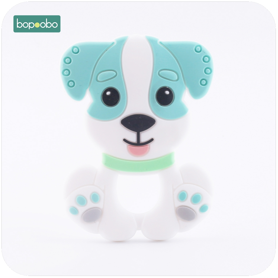 Bopoobo Baby Accessories Silicone Teething Dog Pendant Food Grade Materials Charms Nursing Necklace Pendant