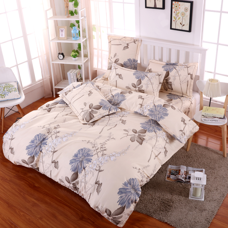 Nice Flowers Design Sanding Grace Bed Linen Nature And Comfortable For Good Sleeping T003