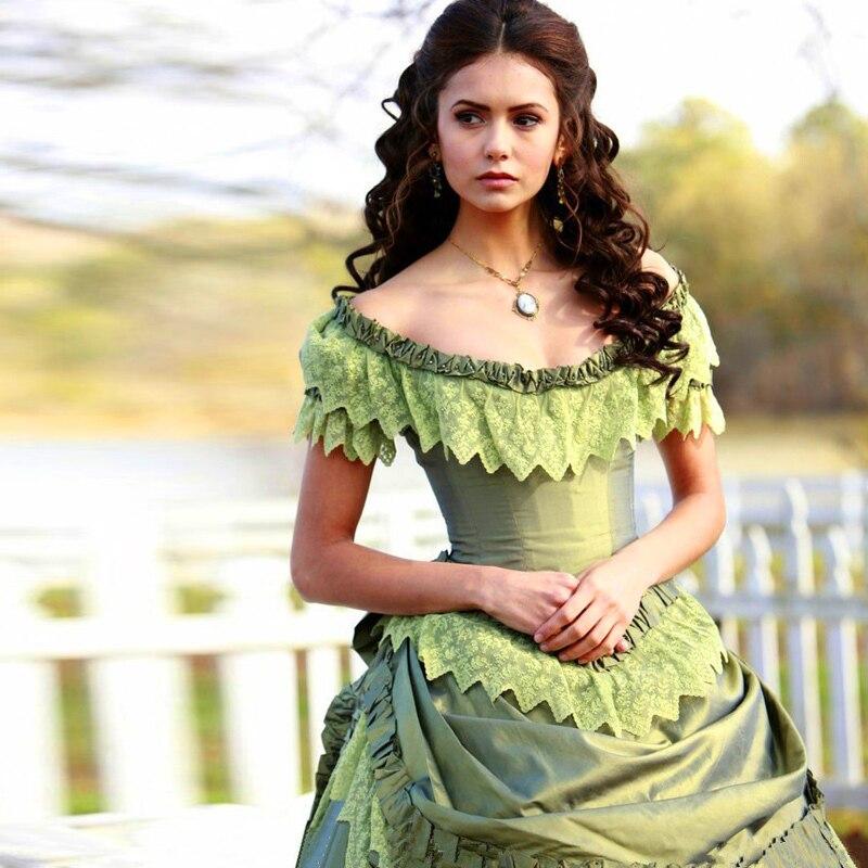 Victorian Gothic Wedding Dress Off Shoulder Tiered Bride Abiti Da ...