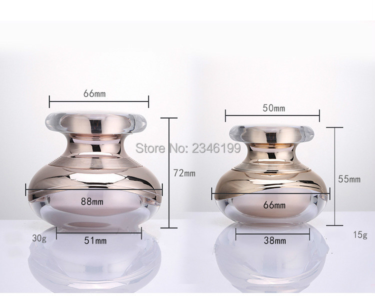 Acrylic Cream Jar 50g Rose Gold Lotion Pump Bottle Emulsion Pump 100ml Acrylic Cosmetic Container Empty Cosmetic Packaging (8)