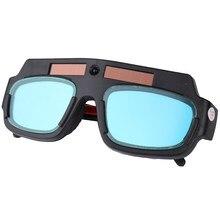 cf2be320d8 Solar Energía Auto oscurecimiento ojos máscara soldadura seguridad gafas  Anti soldadura UV gafas profesionales protección ojos