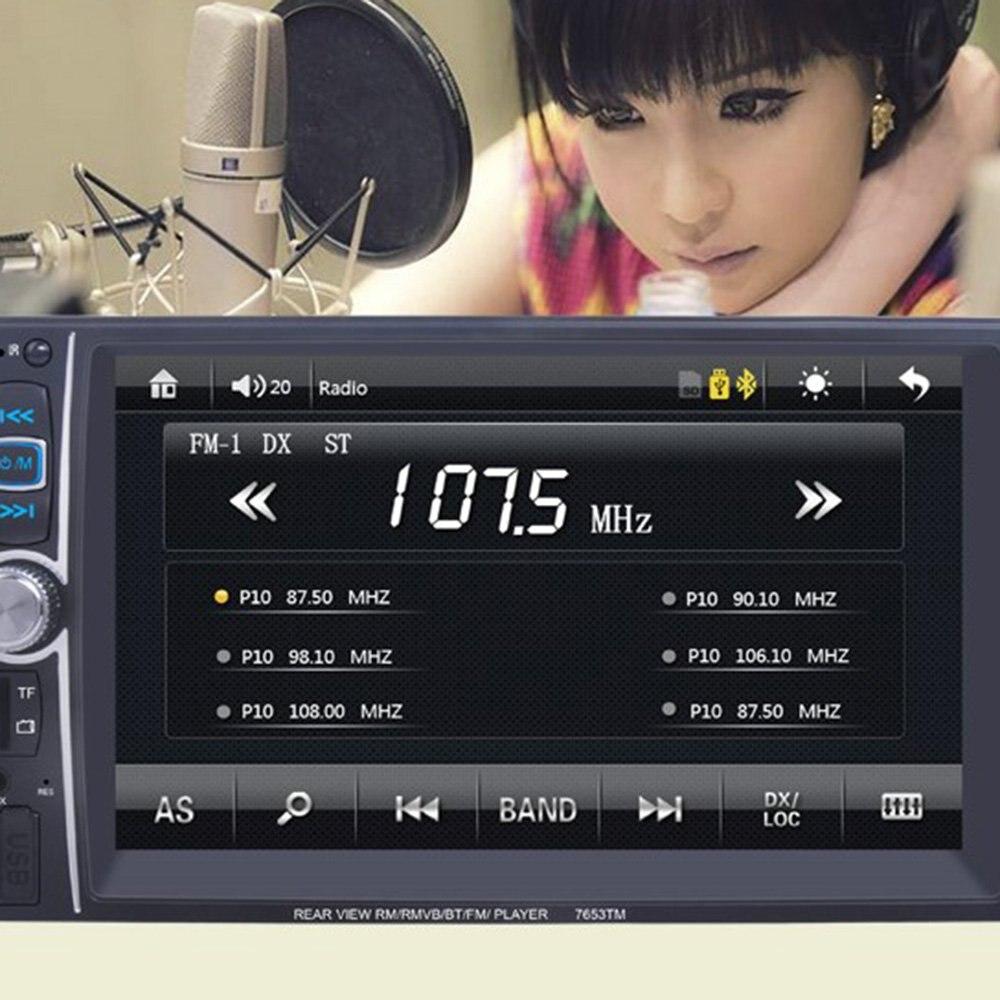 7 pouces moniteur de voiture HD inversion affichage voiture mp5 Bluetooth lecteur 7651D voiture musique vidéo