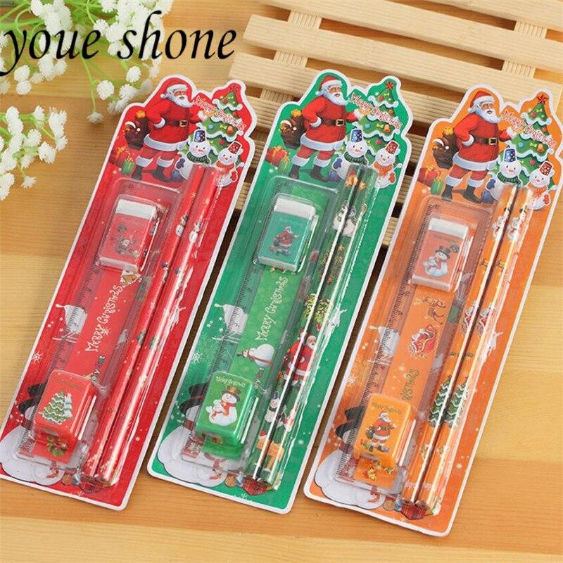 1 Set julpapper Set Santa Claus Pencil Kombination Gåva Primärskola - Skola och pedagogiska förnödenheter
