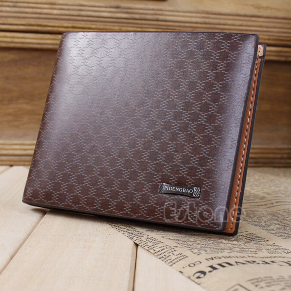 Men/'s Leather Cool Stylish Wallet  ID Credit Bifold Purse Card Pocket Clutch