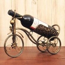 Пятно Европейский винный шкаф винная полка Винтаж Железные украшения модные красные для бутылок