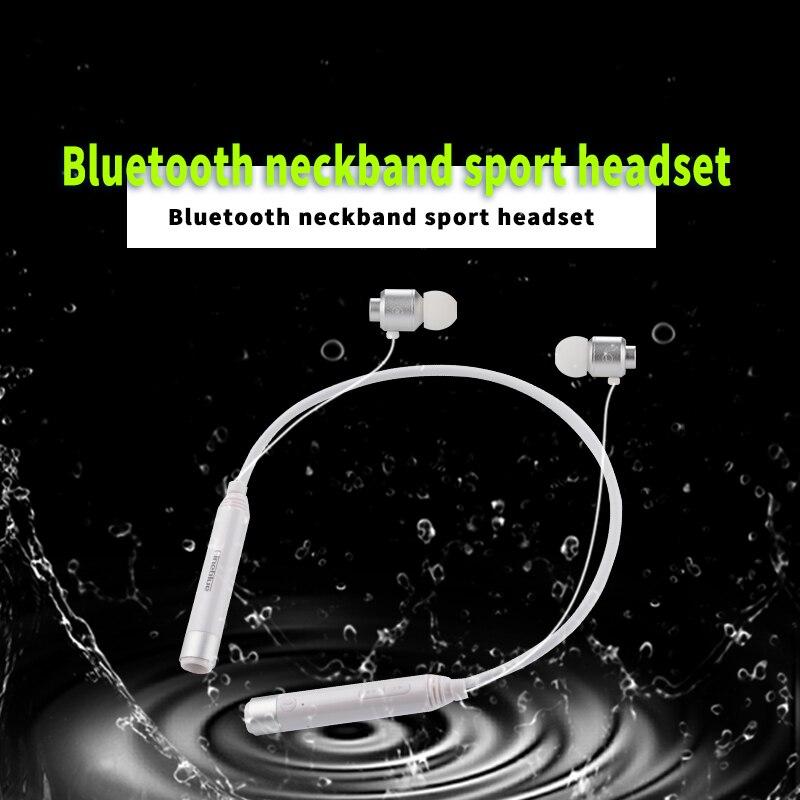 FineBlue FD600i Bluetooth Earphones Wireless Neckband Sport Headset Stereo Magnetic  Earbuds voice prompt fone de ouvido