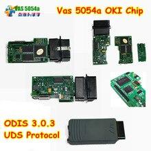 El más nuevo 5054A 5054A ODIS Protocolo UDS vas Bluetooth Ayuda V3.0.3 precio más bajo VAS5054A VAS 5054 A OKI Chip de Importación Completa VAS5054