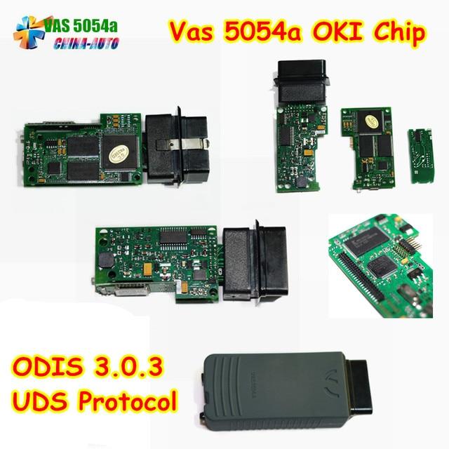 Newest VAS 5054A ODIS V3.0.3 Bluetooth Support UDS Protocol 5054A Lowest price VAS5054A Import Full Chip VAS 5054 A OKI VAS5054