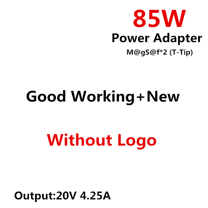 RsFow for M@gSs@f* 2 85W 20V 4.25A T-Tip Power Adapter Charger for MacBook Pro 15 17Retina Display A1425 A1398 A1424