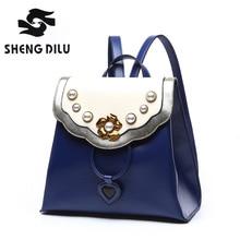 2016 Корейской Девушки Милые Натуральная Кожа рюкзак школьные сумки для подростков Сумки bolsas путешествия рюкзак сумка для женщин + Бесплатная Доставка подарок