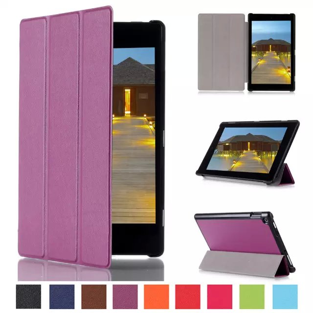 Ultra Slim Custer 3-Folder Folio Flip Stand Leather Skin Magnetic Cover Case For Amazon Kindle Fire HD10 HD 10 2015 10.1