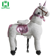 Free Shipping HI CE Outdoor Playground Toy Horse On Wheels , Mechanical Walking For Kid Gifts/ Birthday Gifts