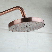 Red Antique Copper Shower Head Round Rainfall Shower Head Bathroom Shower Head Rain Shower KD1266 antique bronze bathroom shower head round 8 rainfall shower head bsh001