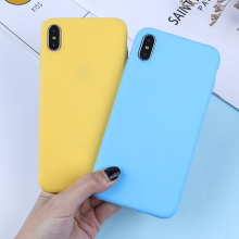 Luxury Solid Color Phone Case For iPhone X XR XS Max Silicone Soft TPU Matte Cases 7 8 6 6S Plus 5 5S SE Candy Colors