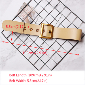 Image 5 - HATCYGGO Fashion Belts for Women Square Pin Buckle Belt Female Genuine Leather Strap Women Waistband for Dress Jeans Girls Gift