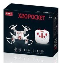 Карман Дрон SYMA X20 2,4G 4 канала мини RC Quadcopter Самолеты игрушки для мальчиков Headless режим высота провести черный