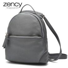 Zency новая модель 100% Пояса из натуральной кожи Для женщин рюкзак Дамы Дорожные сумки Гарантия качества Элегантный Дизайн ранцы для Обувь для девочек