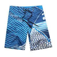 2019 neue Sommer Quick Dry Strand Shorts Herren Polyester Surfen Board Shorts Gestreift Wasser Sportswear Schwimmen Shorts Marke Billa