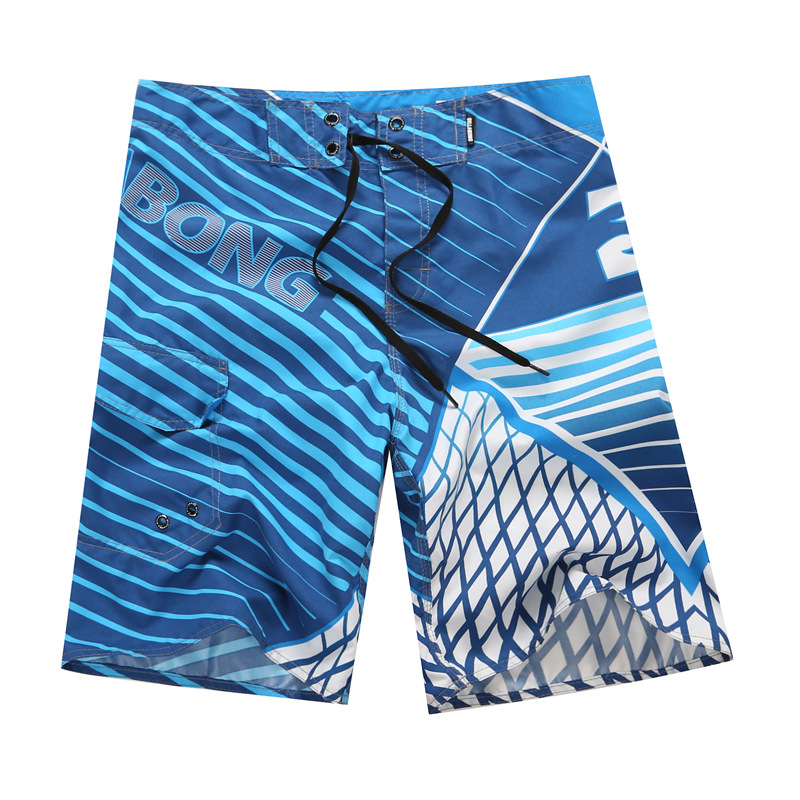 2019 New Summer Quick Dry Beach   Shorts   Mens Polyester Surfing   Board     Shorts   Striped Water Sportswear Swimming   Shorts   Brand Billa