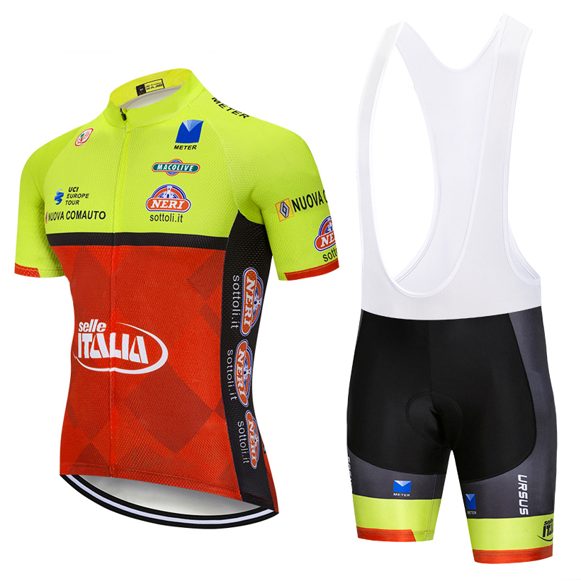 цена на 2019 ITALY Cycling team Clothing 9D gel pads shorts Bike jersey set Ropa Ciclismo Quick Dry Mens pro BICYCLING Maillot Culotte