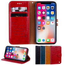 Phone Case For iPhone 6 6s 7 8 Plus 6G 7G 8G X Xs Max XR Vintage PU Leather Wallet Back Flip Cases Cover Bags
