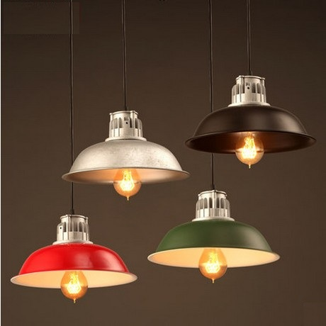 colorful iron cover industrial wind vintage pendant light fixtures