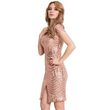 Comeonlover Mode-stil V-ausschnitt Nackt Kleid Frauen Kleidung Vestidos  Mejuer Schlank, Figurbetontes kleid RT80202 Engen Paille. 45d8a80dcc
