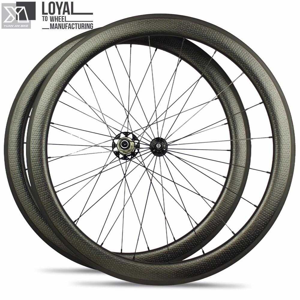 Vente chaude 700c dimple surface de roues en carbone léger poids - Cyclisme - Photo 1