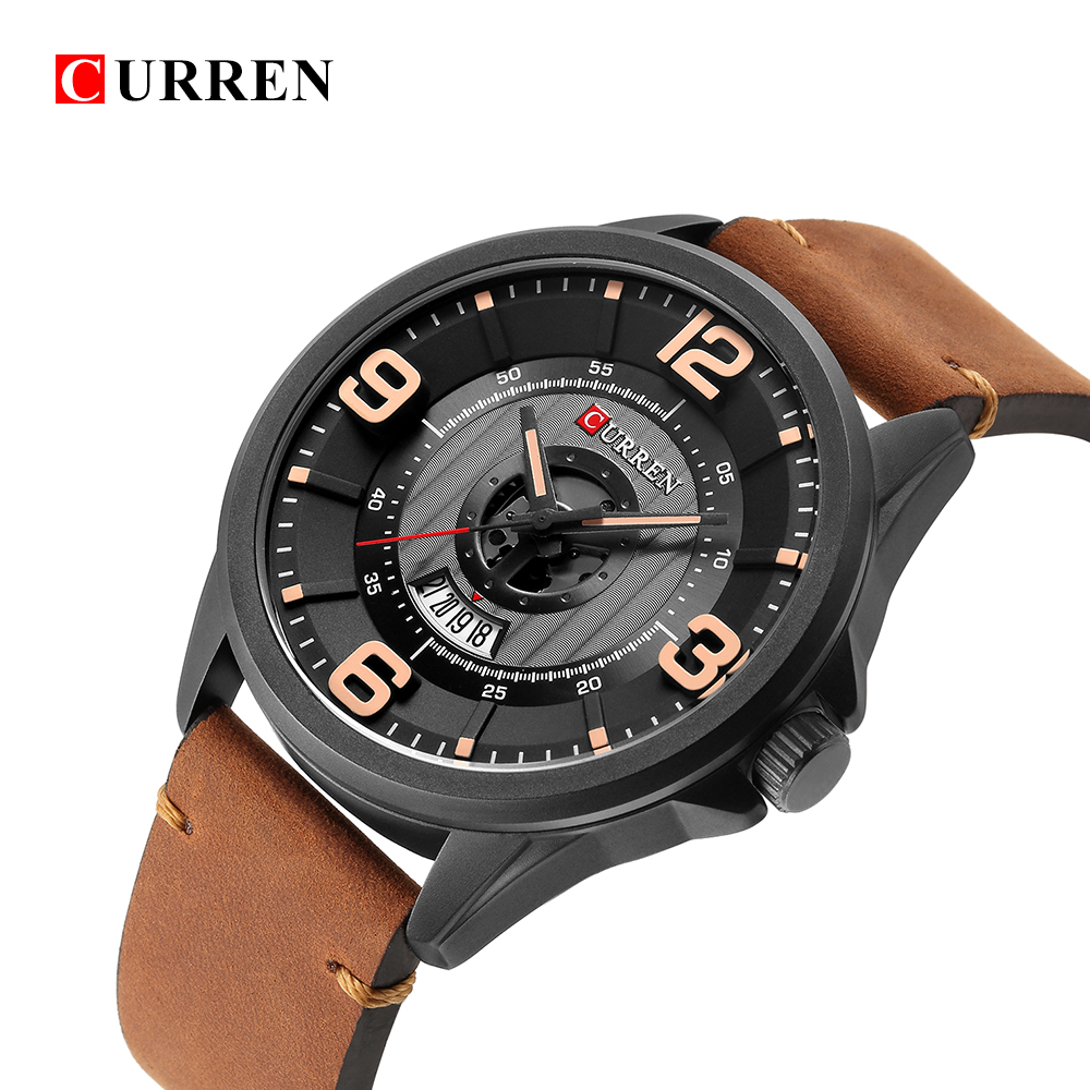 Topdudes.com - CURREN Luxury Business Casual Fashion Relogio Masculino Leather Band Wristwatches