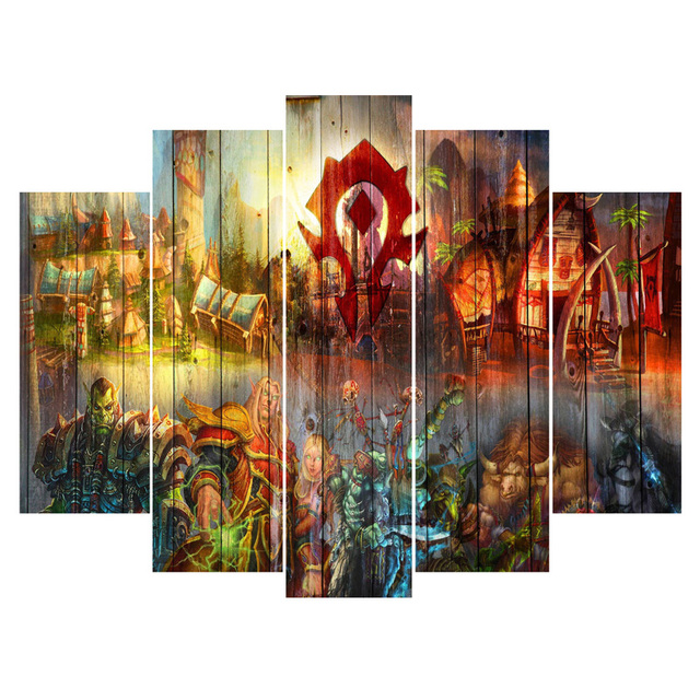 Canvas Paintings Part - 43: Top Fashion 5 Pieces Games Landscape Canvas Paintings Wall Art Oil Painting  For Living Room Unframed