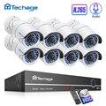H.265 8CH 1080P 2MP PoE камера безопасности системы NVR комплект звук для камеры IR Открытый IP66 водонепроницаемый CCTV видео набор для наблюдения