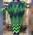 (Envío libre) 2016 diseño bazin africano dashiki nueva moda súper partido elástico más el tamaño del diamante flojo dress para señora