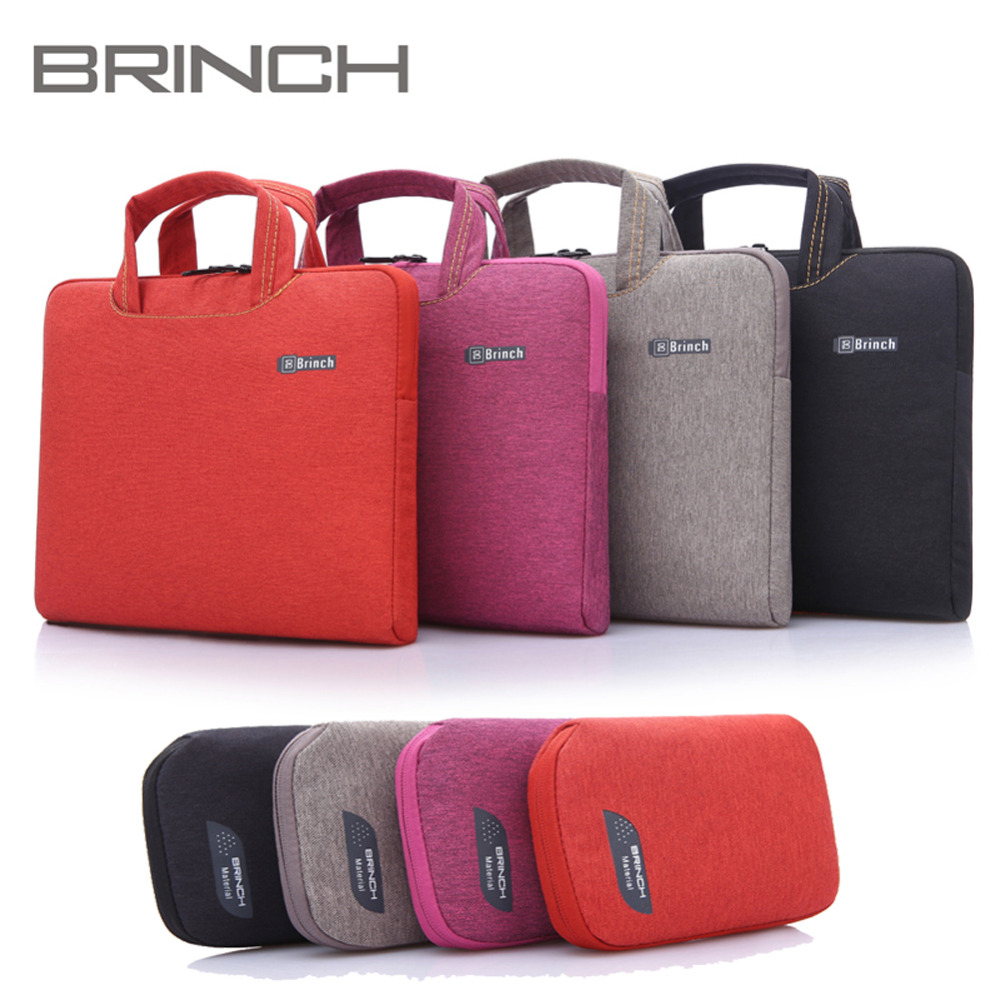 Brinch 11 13 13.3 14 15 15.6 inch Waterproof Laptop Notebook Bag Bags Case Briefcase Sleeves Kumon with Mouse Case for Men Women