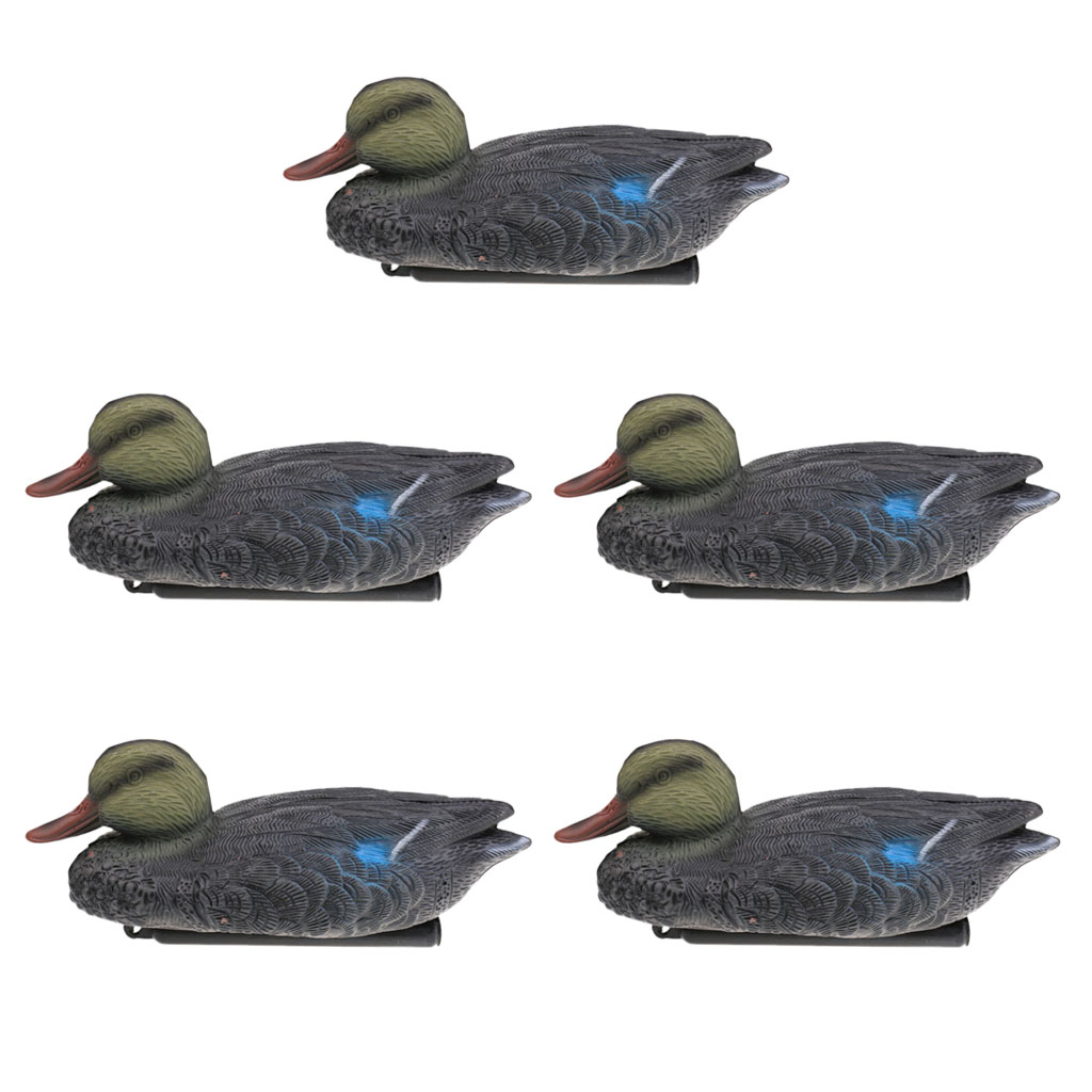 5pcs Lightweight Floating Mallard Duck Decoys Hunting Duck Decoys Garden Yard Lake Decorative Garden Ornaments Hunt Decoys