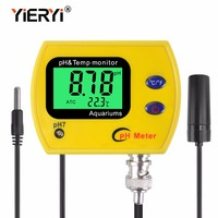Yieryi рН-метр с подсветкой pH-991 тестер прочный ацидометр инструмент дисплей, показывающий температуру для аквариума воды в бассейне плавать