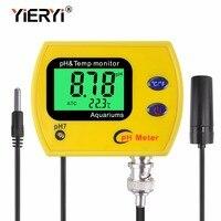yieryi pH Meter with backlight pH 991 tester Durable Acidimeter tool temp monitor for Aquarium swim pool water