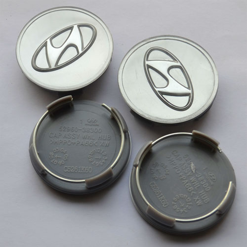 4pcs Wheel Center Cap Silver 60mm Diameter Fit Hyundai 52960 38300