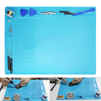 1pc Multifunction Soldering Pad Heat Resistant Soldering Station Insulation Silicone Mat Repair Tools 35x25cm