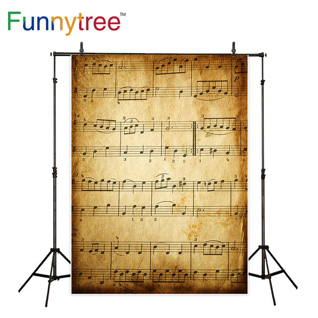 Funnytree backgrounds for photography studio old music score vintage