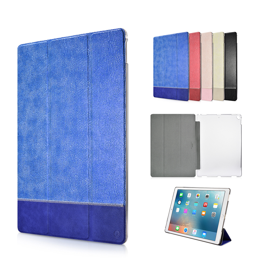 For iPad Pro 12.9'' PU Leather Case Cover Slim Blink Protective Stand Skin For Apple iPad Pro 12.9 2017 Tablet PC Smart Fundas ultra slim smart case cover for apple ipad pro 12 9 2015 2016 12 9 pu leather tablet folding folio cases pc back cover
