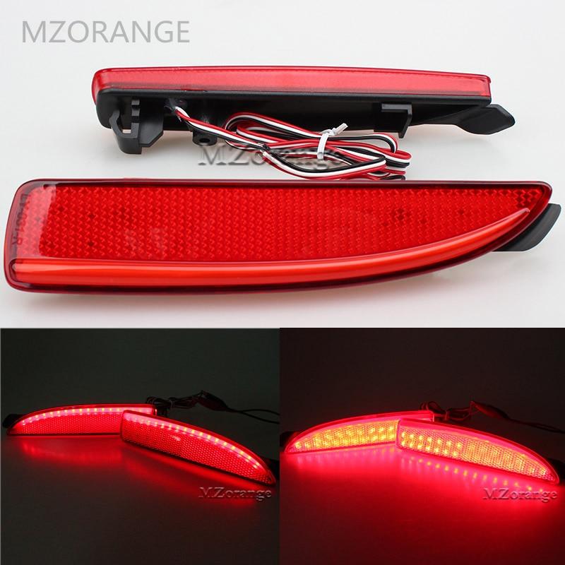 MZORANGE Car-styling 2PCS LED Rear Bumper Reflector Brake Stop Light for Mazda6 Atenza For Mazda2 DY for Mazda3 Axela (CA240) cheetah for mazda 3 6 atenza axela daytime running light