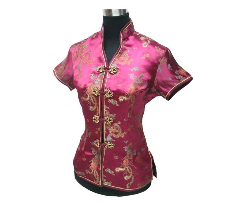 Vintage bordado del cordón del verano tradición china mejores blusa talla sml XL