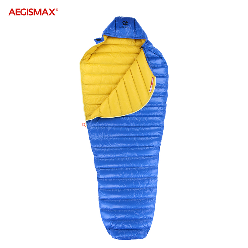 Aegismax 2019 new arrival LETO  Ultralight water repellent White Goose Down Sleeping bag Mummy  Splicing  Hiking Camping 700FP