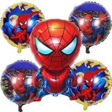 5 шт./лот человек паук Ксеноновые фольга шарик детская игрушка шары вечерние партии с днем рождения аксессуары поставки