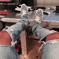Kpop тощий ripped корейской hip hop мода брюки прохладный мужская городская одежда комбинезон мужские джинсы Джастин Бибер slp