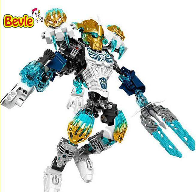 XSZ 612-1 Biochemical Warrior BionicleMask of Light Bionicle Kopaka Melum Building Block Compatible with 71311 Toys