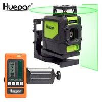 Huepar лазерный уровень зеленый луч лазера наливные 360 градусов с 2 Pluse режимов + Huepar цифровой ЖК дисплей лазерный приемник детектор