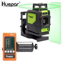 Huepar Laser Level Green Beam Cross Laser Self-leveling 360-Degree with 2 Pluse Modes+Huepar Digital LCD Laser Receiver Detector - DISCOUNT ITEM  23% OFF All Category