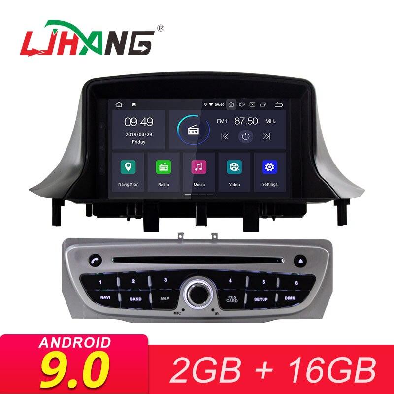LJHANG Android 9.0 lecteur DVD de voiture pour Megane 3 Fluence 2009-2015 autoradio multimédia 1 Din GPS Navigation WIFI Audio stéréo RDS