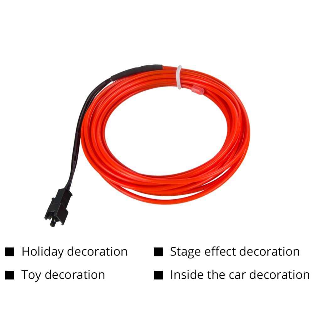 Светодиодный автостайлинг красный цвет 1 м 2 м 3 м 4 м 5 м окружающий свет гибкий неон полосы светодиодный автомобиля Подсветка салона отделкой El холодный свет 5 V